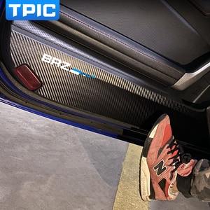 TPIC Car Door Antik-kick Pads Sticker PVC Leather Front Rear Door Protection Car Stickers For Subaru BRZ Toyota 86 2013-2020