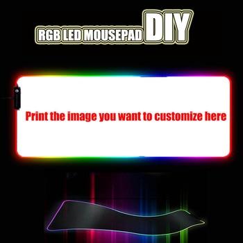 Custom DIY mouse pad RGB LED large gaming mousepad laptop desk mat rubber slip 1