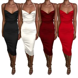 В настоящее время доступны новые продукты Amazon Wish Европа и Америка Летний пикантный зауженный Бандажное платье