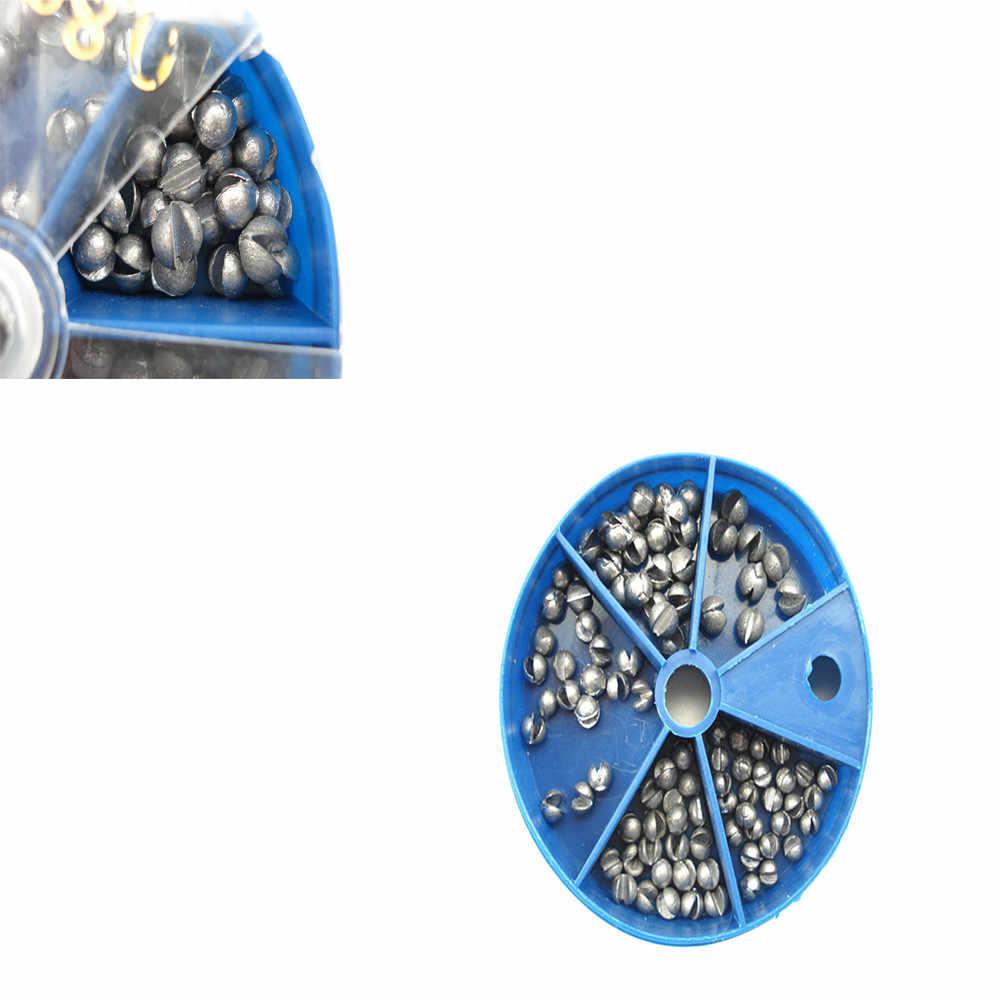 Plomb pêche oeuf balle plate-forme plombs pêche plomb poids fendu boîte de tir facilement 5 modèles 0.3-0.8g livraison gratuite nouveau pas cher livraison directe