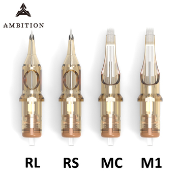 Ambition Revolution tattoo needles cartridge level A 0.35mm High qualiy Disposable tattoo cartridge mix supplies 1rl 3rl 5rl 7rl
