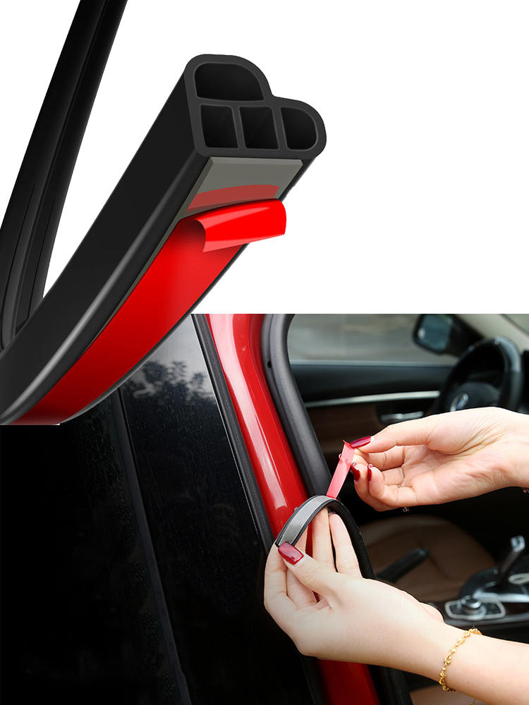 Rubber-Seal-Strips Weatherstrip Trunk Interior-Accessories Sound-Insulation Door Double-Layer