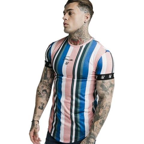 2019 New Mens Summer Sporting Running T-Shirt Fitness Bodybuilding Shirts Men Short Sleeves Slim Cotton Tees Gyms Clothes Multan