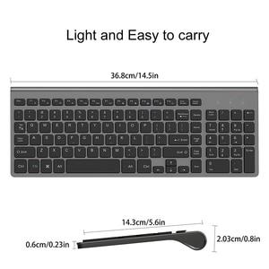 Image 3 - JOYACCESS Spanish/Italian/German/French/Russian Keyboard Wireless with Multimedia Keys Ergonomic keyboard for Notebook Laptop PC