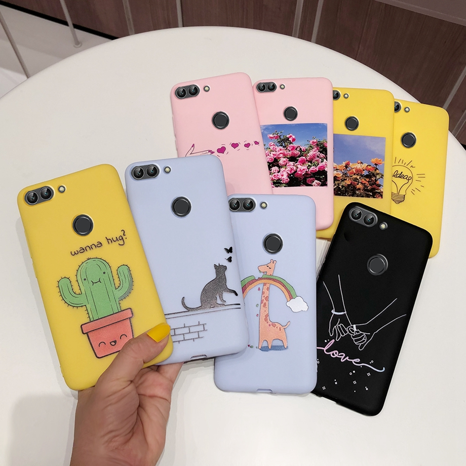 for Huawei <font><b>P</b></font> <font><b>smart</b></font> <font><b>5.65inch</b></font> FIG-LX1 Solid Matte Silicone TPU soft phone back cover case for Huawei Psmart <font><b>P</b></font> <font><b>smart</b></font> 2017 2018 case image