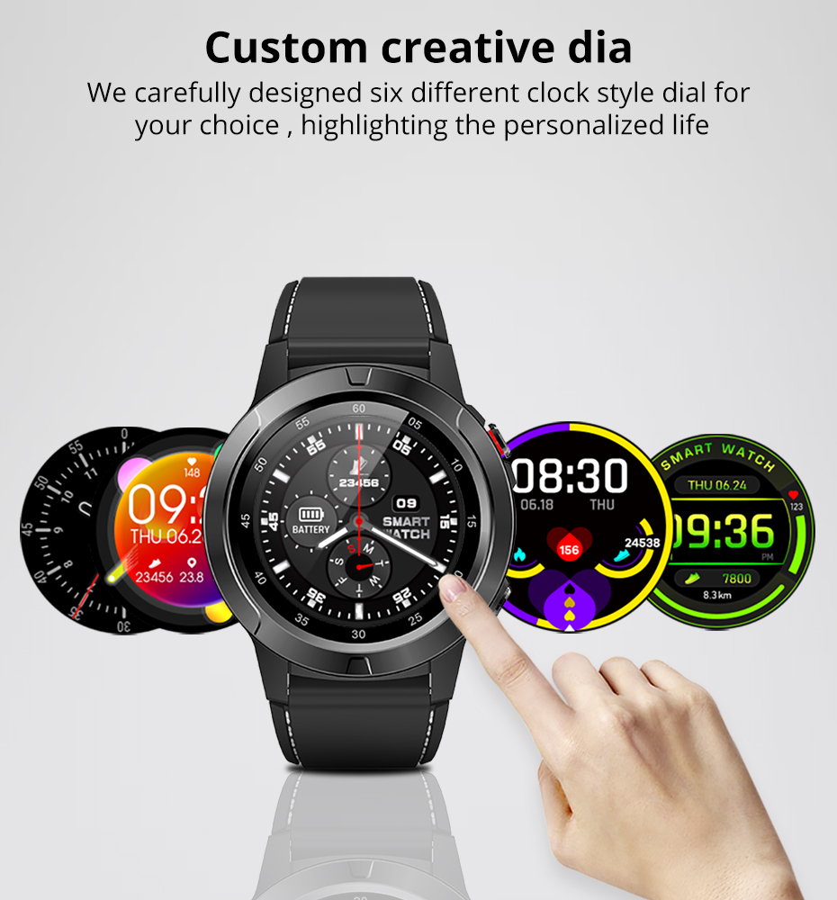 Makibes M4 Smart Watch Men Compass GPS Smartwatch Multi-language IP67 Waterproof Heart Rate Monitor Clock Call Message Reminder (6)