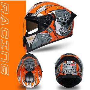 Image 3 - NENKI אופנוע קסדה שחור Moto מלא פנים רטרו קטנוע קסדות אופנוע רכיבה קסדת גברים מוטוקרוס קסדת Casco Moto #