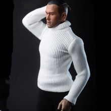 Cunstom 1/6 Scale Male Soldier Figure Turtleneck Sweater Knitwear Clothes Coat Accessory F 12'' HT/PH Figure Body Model Toy Gift