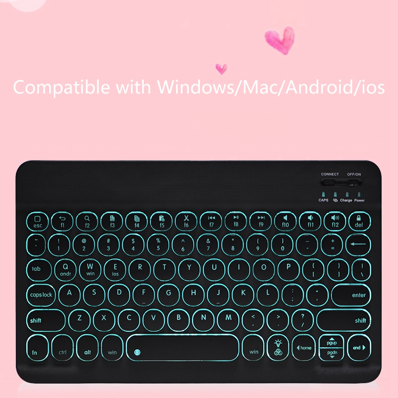 Keyboard 10 Inch for ALLDOCUBE IPlay20 Teclast P20HD Tablet Wireless Keyboard with Backlight for Win Mac Android Ios