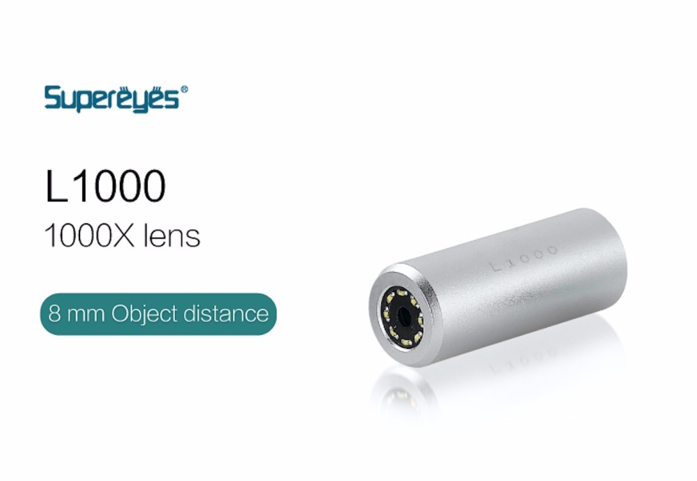 Supereyes Microscope Lenses L1000 Interchangeable 1000X High Magnification Microscope Lenses for B011 Handheld Endoscope