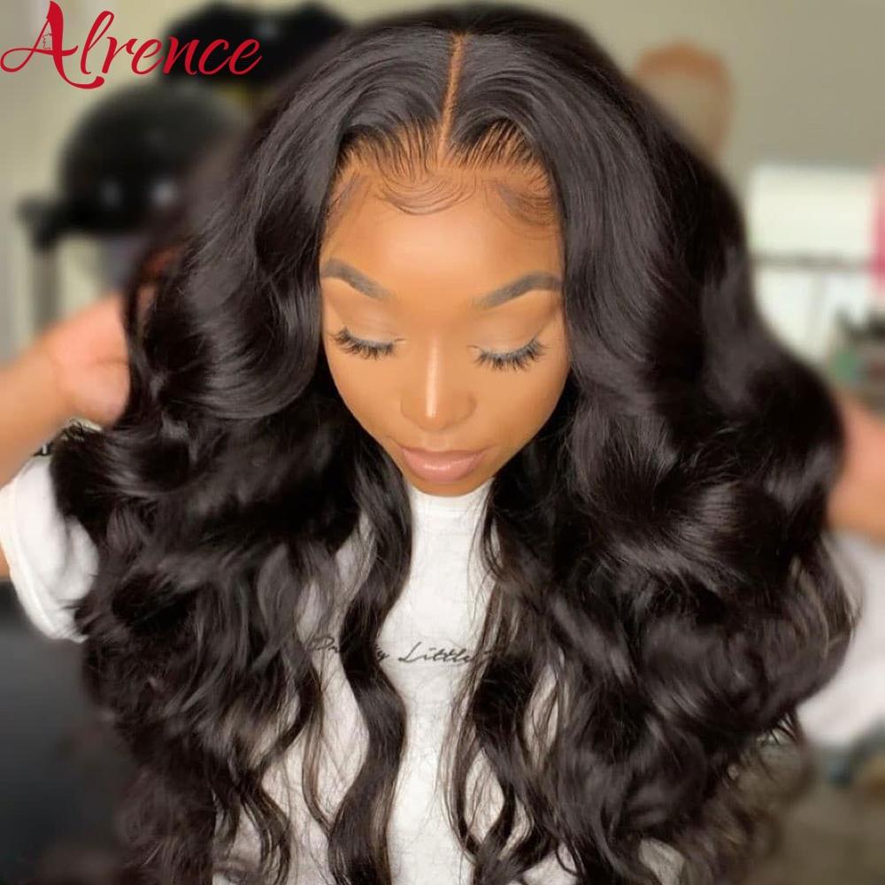 Hd transparente laço frontal perucas de cabelo humano onda do corpo parte peruca dianteira do laço 28 Polegada perucas de cabelo humano para as mulheres remy 13x6 peruca do laço