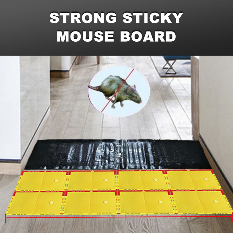 Mouse Sticky Plate Non Toxic Mousetrap Durable Glue Rat Board Rat Glue Trap 120*27cm Black Rodent Household Control Pest