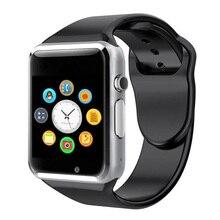 Nowy pasek na smartwatcha Bluetooth A1 zegarek sportowy krokomierz z kamera na kartę Sim Smartwatch dla androida lepiej niż GT08 DZ09