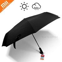 Xiaomi Mijia Automatic Folding Umbrella Sunny Rainy Umbrella Three UV Aluminum Windproof Waterproof UV Man woman Summer Winter