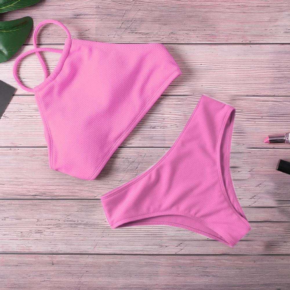 Swimsuit Push Up Bikini 2020 Women Swimwear Bandage High Waist Bikini Set Strap Detachable Bathing Suit Female Beachwear