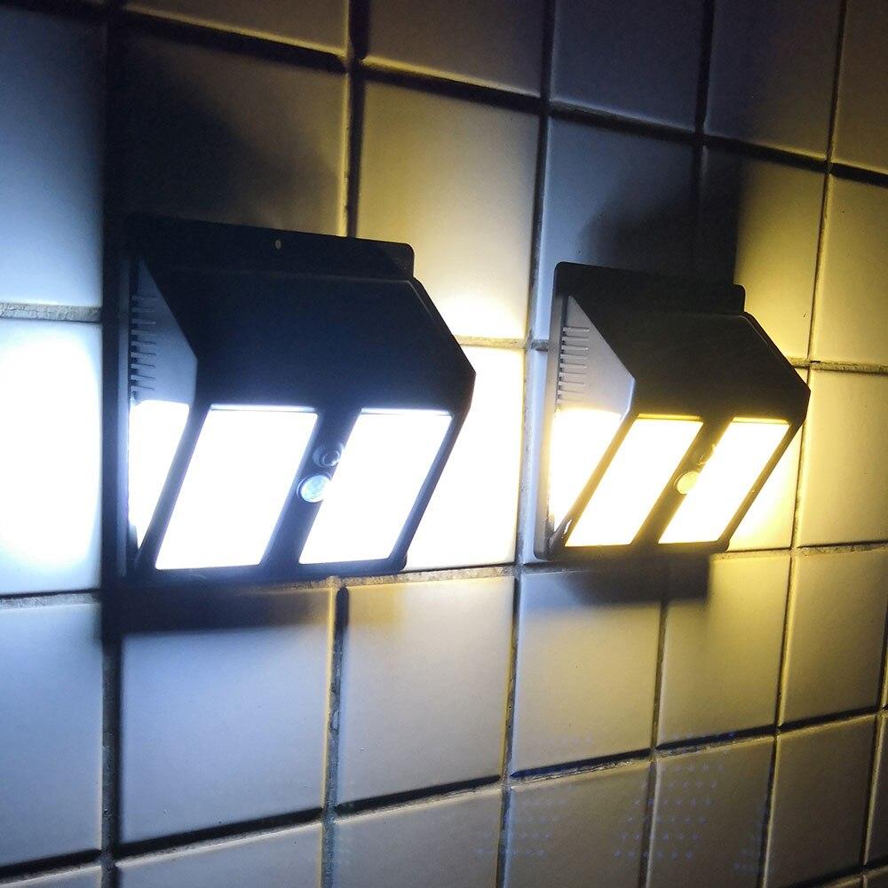 146leds açık led güneş enerjili bahçe ışığı su geçirmez IP65 sense ışık kızılötesi sensörler lamba açık çit bahçe yolu duvar lambası