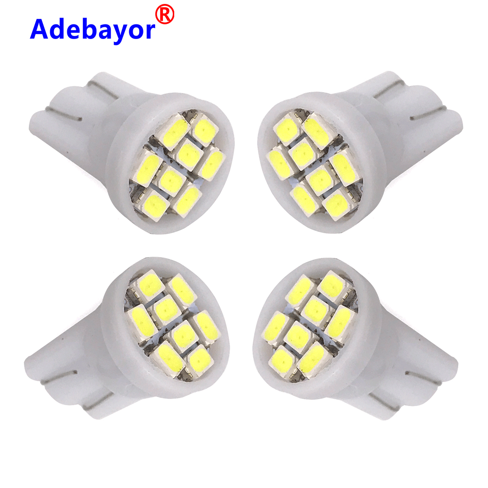 10pcs T10 W5W 194 168 501 Car White 8 LED 3020 SMD Wedge Side Light Bulb Lamp