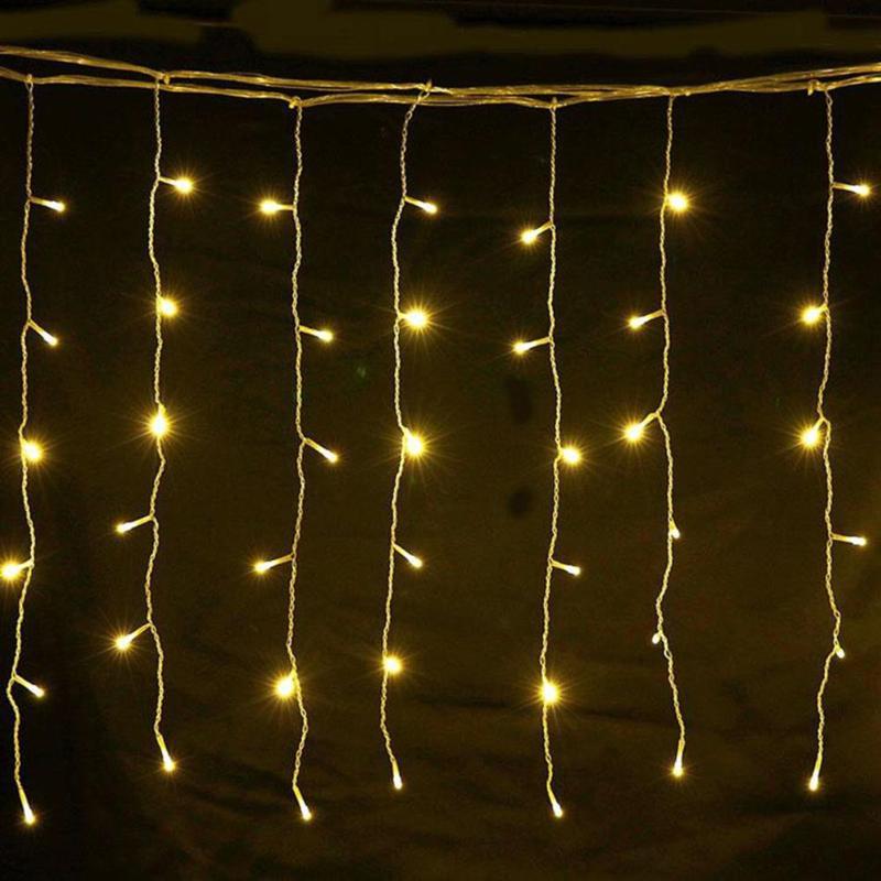 4,7 м 96 Светодиодный s гирлянда светодиодный Шторы гирлянда сосульки Фея светильник длина свисания 0,3/0,4/0,6 м на открытом воздухе свадебные