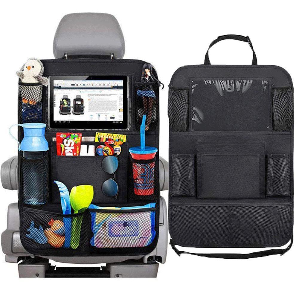 Car Storage Back Seat Organizer Holder Waterproof Travel Back Bag Multi-Pocket Car Trucks SUVs Car Bag Seat Accessories Storage