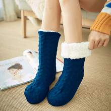 10pair Home Cozy Adult Artificial Fleece Lined Winter In Tube Thickened Floor Fluffy Soft Warm Bed One Size Women Socks Non Slip
