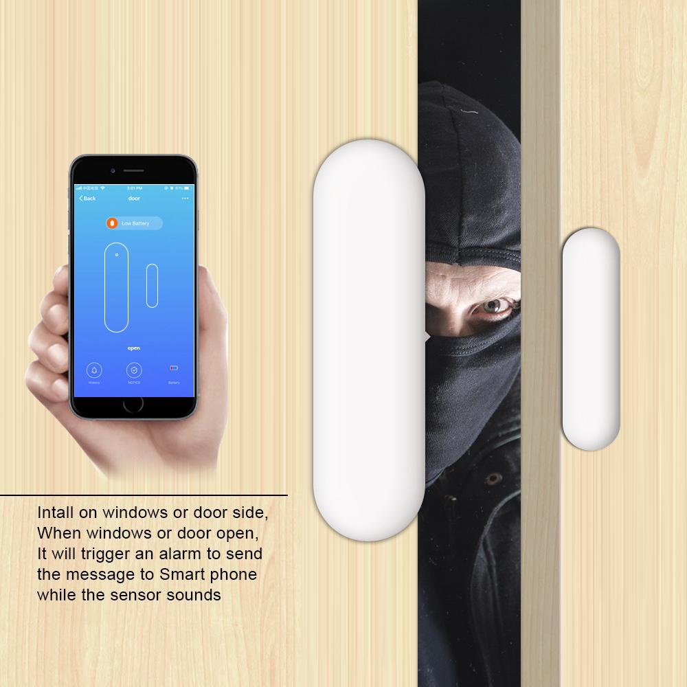 2 4g Wifi Smart Door Window Sensor Wireless Alarm Security For Alexa Google Apartment Home Detector Aliexpress