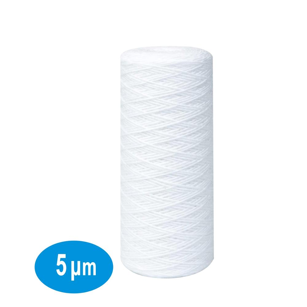 "5 Micron Big Blue Sediment String Wound Water Filter 4.5"" Dia. X 10"" Long Polypropylene Replacement filters for Whole House