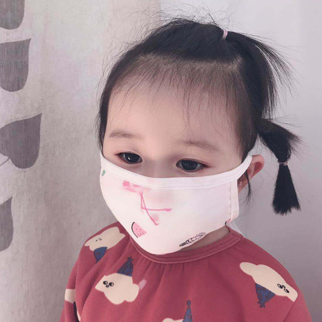 0-12 Years Baby Kids Children Face Mouth Masks Cotton 8 Layers Of Gauze Warm Cute Anti-flu Anti-Dust Mouth Face Mask Random Colo 2