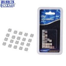 Pccooler RHS-01 MOS 20PCS kühlkörper kleine IC chip kühlung reinem aluminium stumm grafikkarte kühlkörper GPU VGA RAM heizkörper