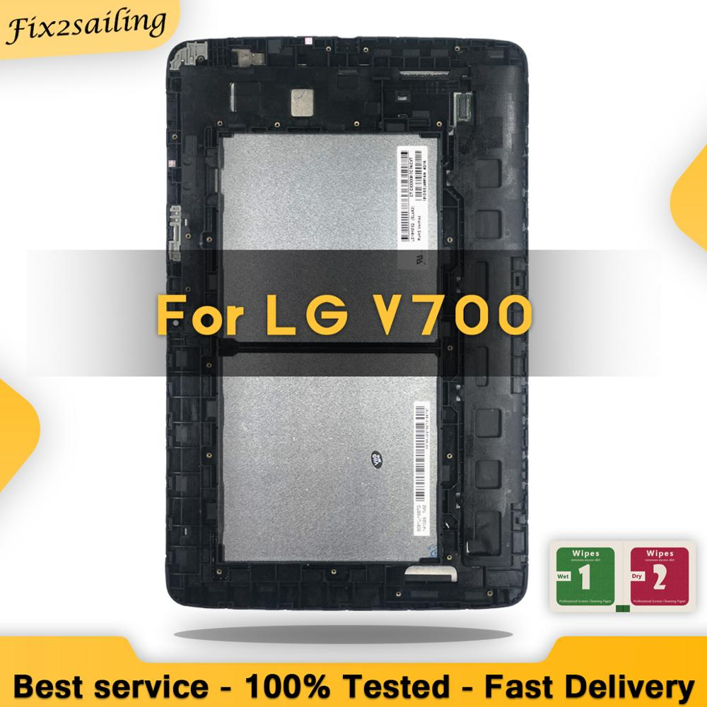 100% Tested 10.1''LCD For LG G Pad 10.1 V700 VK700 LCD Screen Display Digitizer Touch Assembly Replacement Parts Tablet Frame