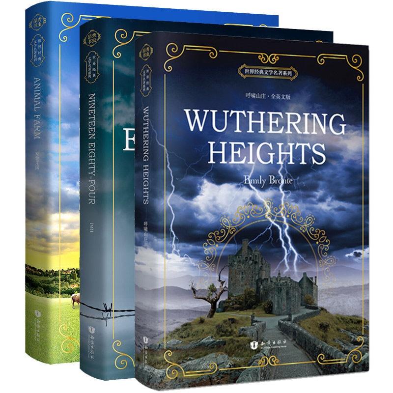 3 Books/set Original Novel World Famous English Reading Literature Books Montessori Educational Famous Story In English Books