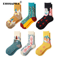 New Product Unisex Socks Creative Art Vintage Tide Socks Kor