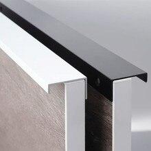 Черные Серебряные скрытые ручки шкафа цинковый сплав кухонный шкаф ручки для выдвижных ящиков двери спальни Оборудование Для Обработки мебели