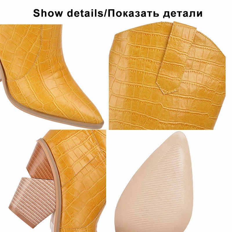 Kemekiss Plus Size 34-48 Vrouwen Knie Hoge Laarzen Fashion Stone Print Sexy Puntschoen Cowgirl Schoenen Vrouwen Hoge hakken Winter Laarzen