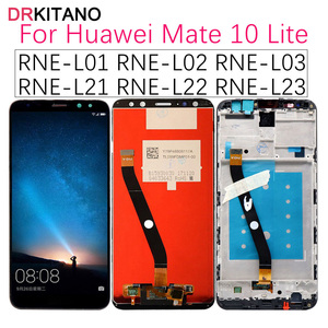 Image 1 - DRKITANO תצוגה עבור HUAWEI Mate 10 Lite LCD תצוגת נובה 2i RNE L21 מגע מסך עבור Huawei Mate 10 תצוגת לייט עם מסגרת
