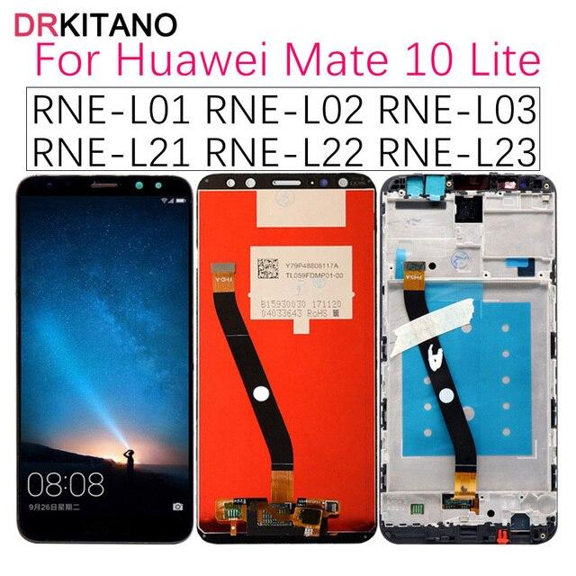 Drkitano Display Voor Huawei Mate 10 Lite Lcd Display Nova 2i RNE L21 Touch Screen Voor Huawei Mate 10 Lite Display met Frame