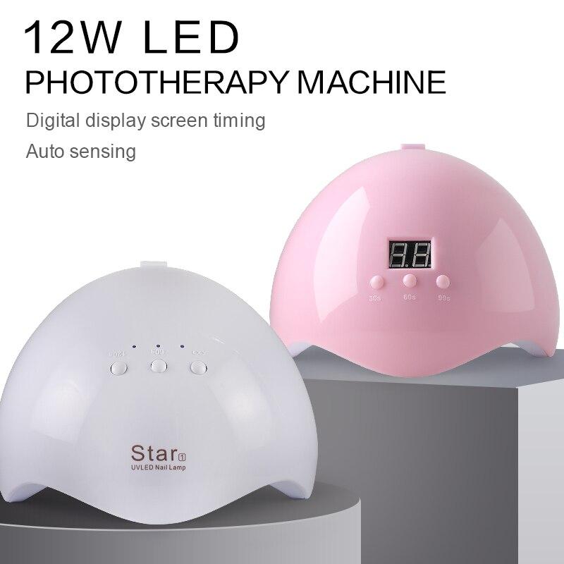 Arte Clavo 12W Nail Dryer Machine UV LED Lamp Portable Micro USB Cable Home Use UV Gel Varnish Dryer 12 LEDS Lamp Nail Art Tools 1