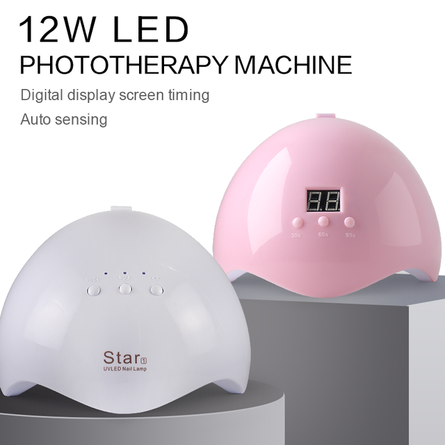 Arte Clavo 12W Nail Dryer Machine UV LED Lamp Portable Micro USB Cable Home Use UV Gel Varnish Dryer 12 LEDS Lamp Nail Art Tools 1