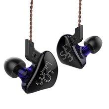 KZ ES3 1BA + 1DD In EarหูฟังแบบไดนามิกHifi Sportชุดหูฟังตัดเสียงรบกวนเปลี่ยนสายKZ ES4 ZS3 ZST ZS6 AS10 ZSN