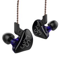 KZ auriculares internos ES3 1BA + 1DD con controlador dinámico, auriculares Hifi deportivos con cancelación de ruido, Cable de repuesto, KZ ES4 ZS3 ZST ZS6 AS10 ZSN