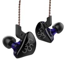 Kz ES3 1BA + 1DD In Ear Oortelefoon Dynamische Driver Hifi Sport Noise Cancelling Headset Vervanging Kabel Kz ES4 ZS3 Zst ZS6 AS10 Zsn