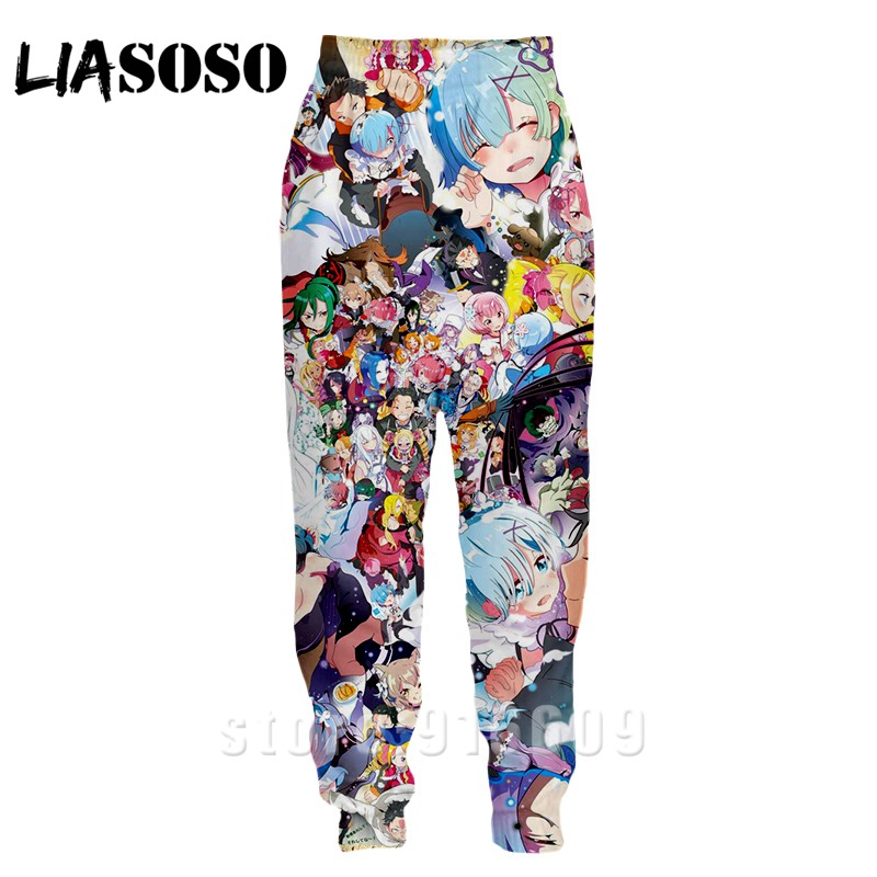 3d Print Men Women Top Full Length Jogger Kids Re Zero Rem Anime Sexy Loli Sweatpant Rock Winter Pants Cartoon Sports Trousers