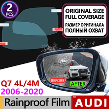 2Pcs for Audi Q7 2006 - 2020 4L 4M Full Cover Anti Fog Film Rearview Mirror Rainproof Foils Clear Anti-Fog Films Car Accessories