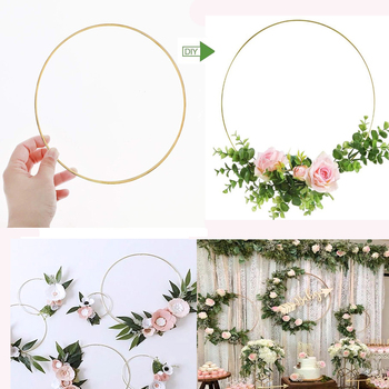 Metal Wedding Garland Rustic Wedding Decor Accessories Hand Garland Weeding Decoration For Weddings Flower Box Bag Flower Basket image