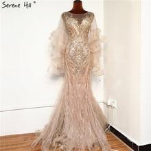 זהב יוקרה Sparkl פאייטים ואגלי בת ים ערב שמלות 2020 כותרת ארוך שרוולים סקסי פורמליות שמלת Serene היל BLA70410