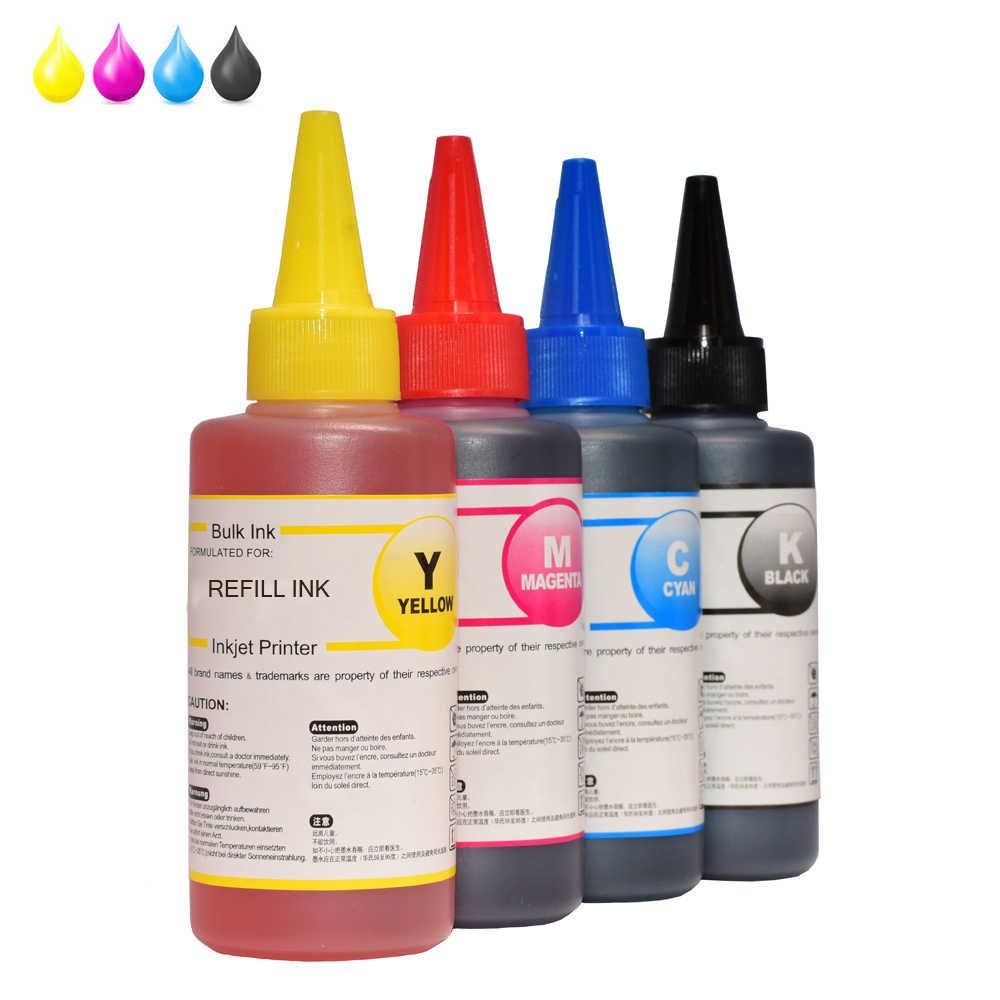 Tinta Isi Ulang Kit untuk HP301 Xl Cartridge HP140 HP141 HP300 HP 302 XL HP121 HP122 HP650 HP652 HP651 XL Printer tinta HP 304 XL 4x100ml