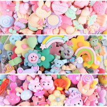 100pcs Cute Cartoon Lucky Bag Handmade Resin Earring Pendant DIY Decoration Making Slime Clay Accessories Toys