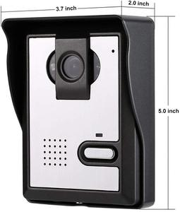 Image 5 - 7 אינץ צג וידאו דלת טלפון אינטרקום מערכת פעמון מצלמה חזותי אינטרקום פעמון וידאו אינטרקום doorphone עבור וילה