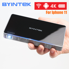 BYINTEK UFO P10 Android 7.1.2 OS Wifi Mini HD LED Projector For HD1080P MAX 4K Portable Smart Home Theater Pocket for Iphone 11