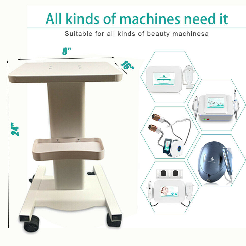 Aluminum Spa Rolling Hair Salon Trolley Instrument Tray Cart Drawers Roller Trolley Beauty Tools Dentist Medical Cart Iron US