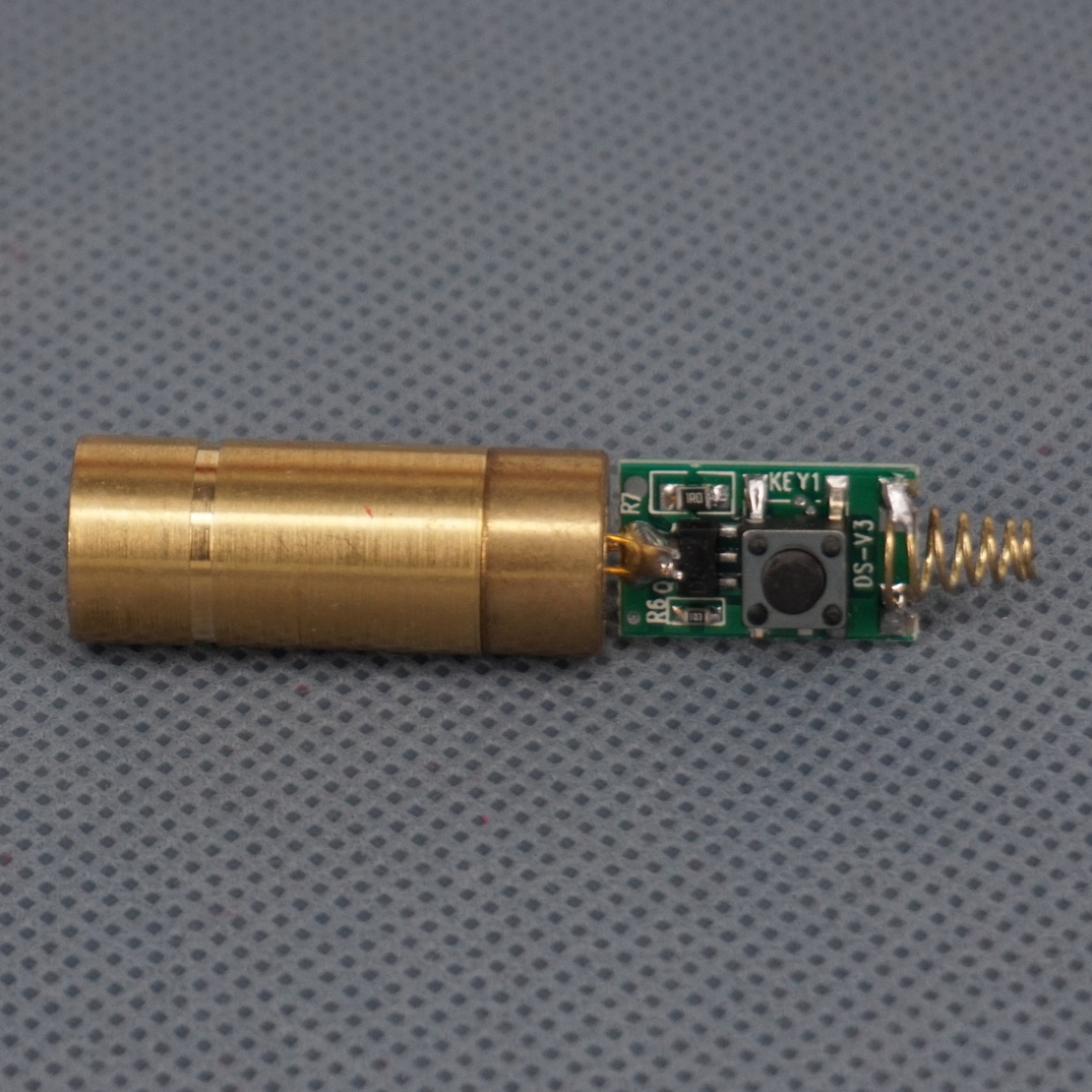 LETAOSK 532nm 50mW Green Laser DOT Module Diode With Light Free Driver & Spring For LAB Steady Working